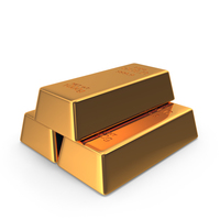 3 Golden Bars PNG & PSD Images