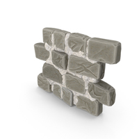 Stylized Stone Wall PNG & PSD Images