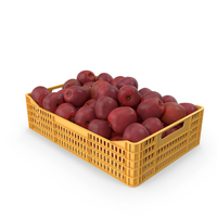 Red Apple Crate PNG & PSD Images