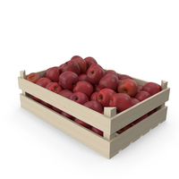 Wooden Red Apple Crate PNG & PSD Images