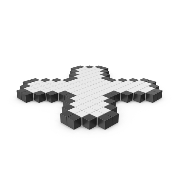 Cross Retro Pixelated Icon Interface PNG & PSD Images
