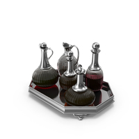 Decanter Set With Wine PNG & PSD Images