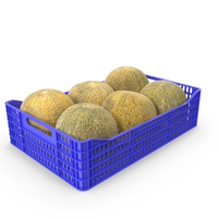Melons in Plastic Crate PNG & PSD Images