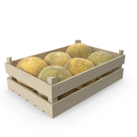 Wooden Melon Crate PNG & PSD Images
