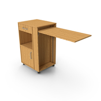 Desk with Drawers and Folding Table PNG & PSD Images