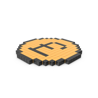 Pixelated Pound Coin Icon PNG & PSD Images
