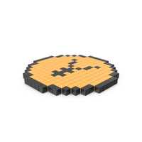 Pixelated Yen Coin Icon PNG & PSD Images