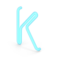 Neon Letter K PNG & PSD Images