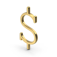 Golden Dollar Sign Courier New PNG & PSD Images