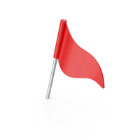 Red Flag Push Pin PNG & PSD Images