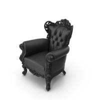 Leather Belle de Fleur Baroque Black Chair PNG & PSD Images