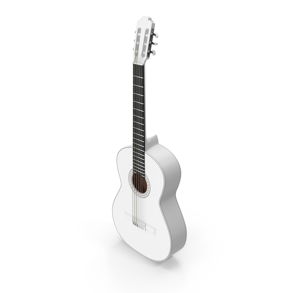 White Acoustic Guitar PNG & PSD Images