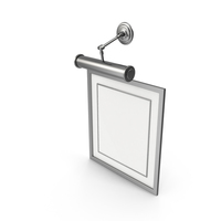 Picture Frame with Lamp PNG & PSD Images