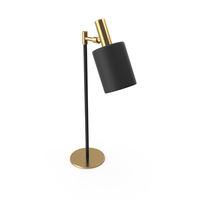 Modernist Capital Collection Musa Black Table Lamp PNG & PSD Images