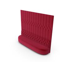 Red Velvet Tufted Sofa PNG & PSD Images