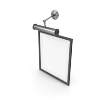 Black Picture Frame with Lamp PNG & PSD Images