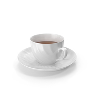 White Tea Cup and Saucer PNG & PSD Images