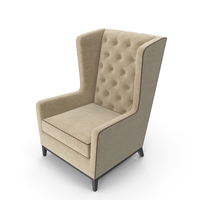 Asnaghi Aurora Lounge Tufted Armchair PNG & PSD Images