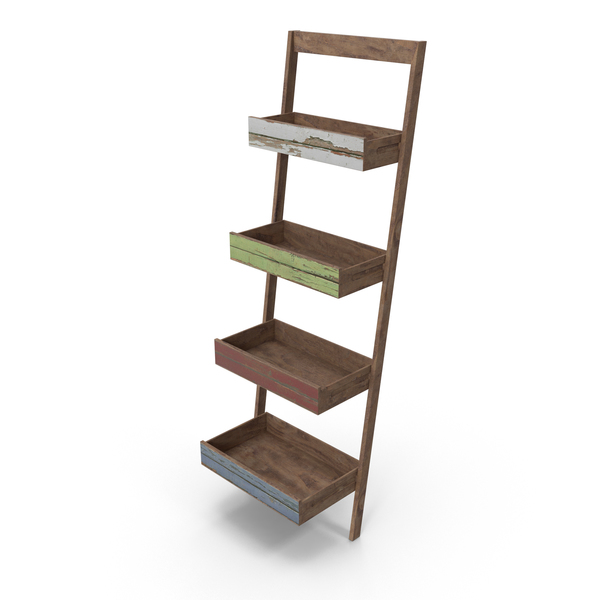 Ladder Bookcase PNG & PSD Images