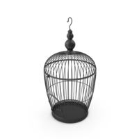 Black Bird Cage PNG & PSD Images
