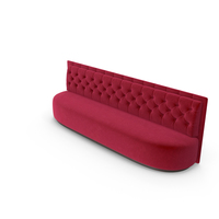 Low Red Velvet Tall Club Sofa PNG & PSD Images