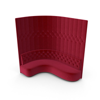 Red Velevet Tall Corner Tufted Club Sofa PNG & PSD Images