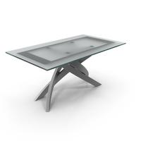 Bontempi Casa Artistico Glass Dining Table PNG & PSD Images