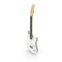 White Freatboard Electric Guitar PNG & PSD Images