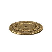 Golden Ceiling Medallion PNG & PSD Images
