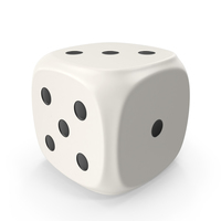 White Six Sided Die PNG & PSD Images