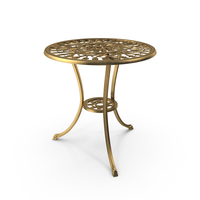 Golden Cast Iron Dining Table PNG & PSD Images