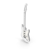 SSS Strat Custom White Electric Guitar PNG & PSD Images