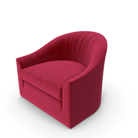 Red Velvet Club Armchair PNG & PSD Images