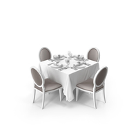 Restaurant Table Set PNG & PSD Images
