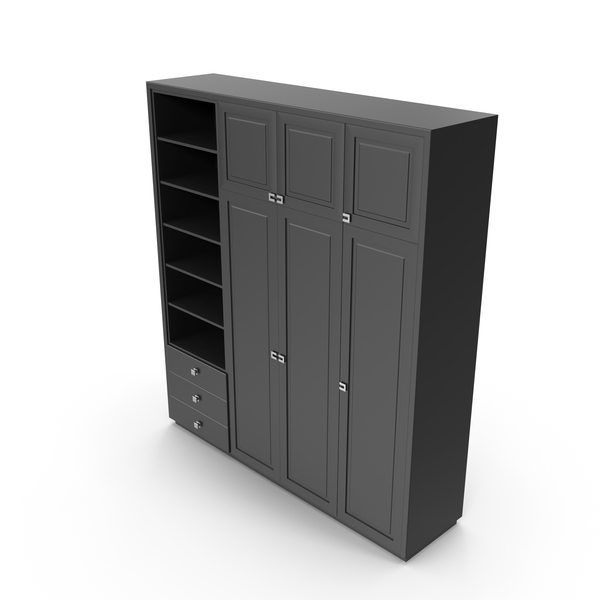 Black Creative Woodwork Chest Cabinet PNG & PSD Images