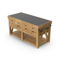 Cooper Double Kitchen Island PNG & PSD Images