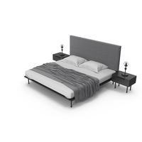 Loft Style Bedroom Set PNG & PSD Images