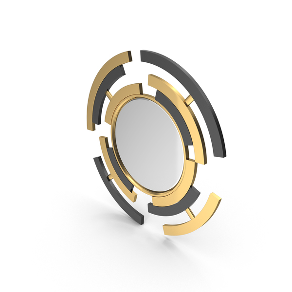 Pont Des Arts Contemporary Round Wall Mirror PNG & PSD Images