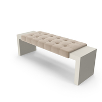 Tufted Contemporary Ottoman PNG & PSD Images