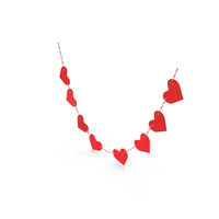 Heart Shaped Garland PNG & PSD Images