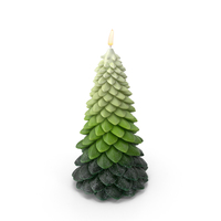 Tree Shaped Candle PNG & PSD Images