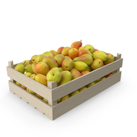 Pears in Wooden Crate PNG & PSD Images