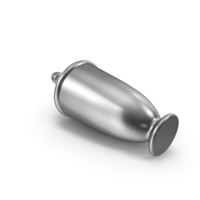 Chrome Urn Laying Horizontal PNG & PSD Images