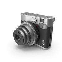 Black Fujifilm Instax Mini 90 Neo Classic Camera PNG & PSD Images