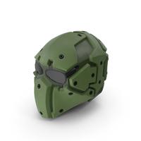 Kevlar Tactical Mask Olive PNG & PSD Images