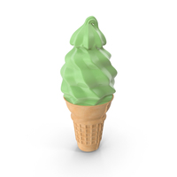 Green Ice Cream Cone PNG & PSD Images