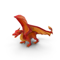 Low Poly Dragon PNG & PSD Images