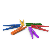 Colorful Clothespin Set PNG & PSD Images