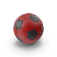 Soccer Ball Red Black PNG & PSD Images