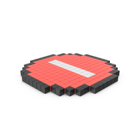 Pixelated Stop Sign Icon PNG & PSD Images